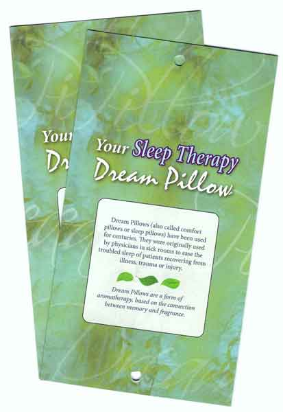 sleep therapy dream pillow folder